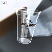 R450Y-T 15oz 450ml disposable biodegradable transparent plastic - PLA cold drink beverage ice cream sundae smoothie cup