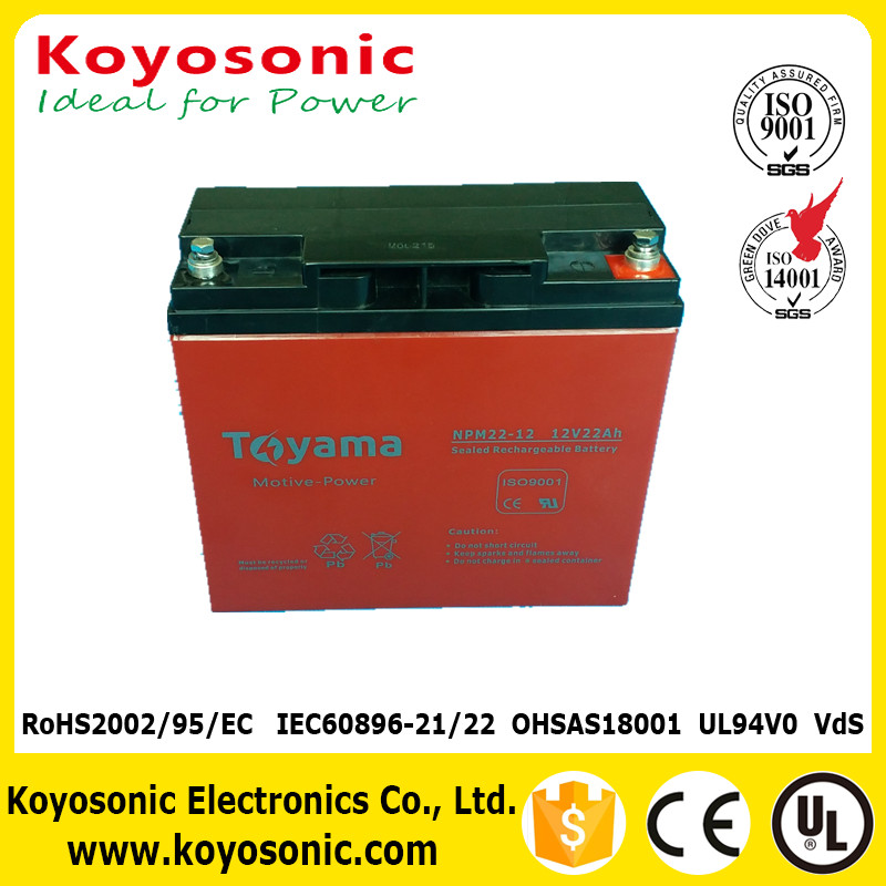 Maintenance Free 12V 220AH VRLA Battery Motive Power Battery For Electric Bike