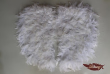 "28""*22"" Craft Feathers Turkey Feather White Kids Angel Wings For Sale Party Products"