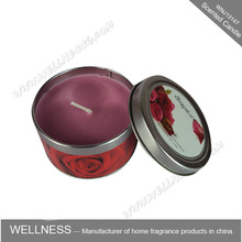 Wholesale aroma aluminium tin candle for home use