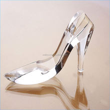 Cheap Luxury refinement personalize crystal shoes crafts cheap crystal gifts