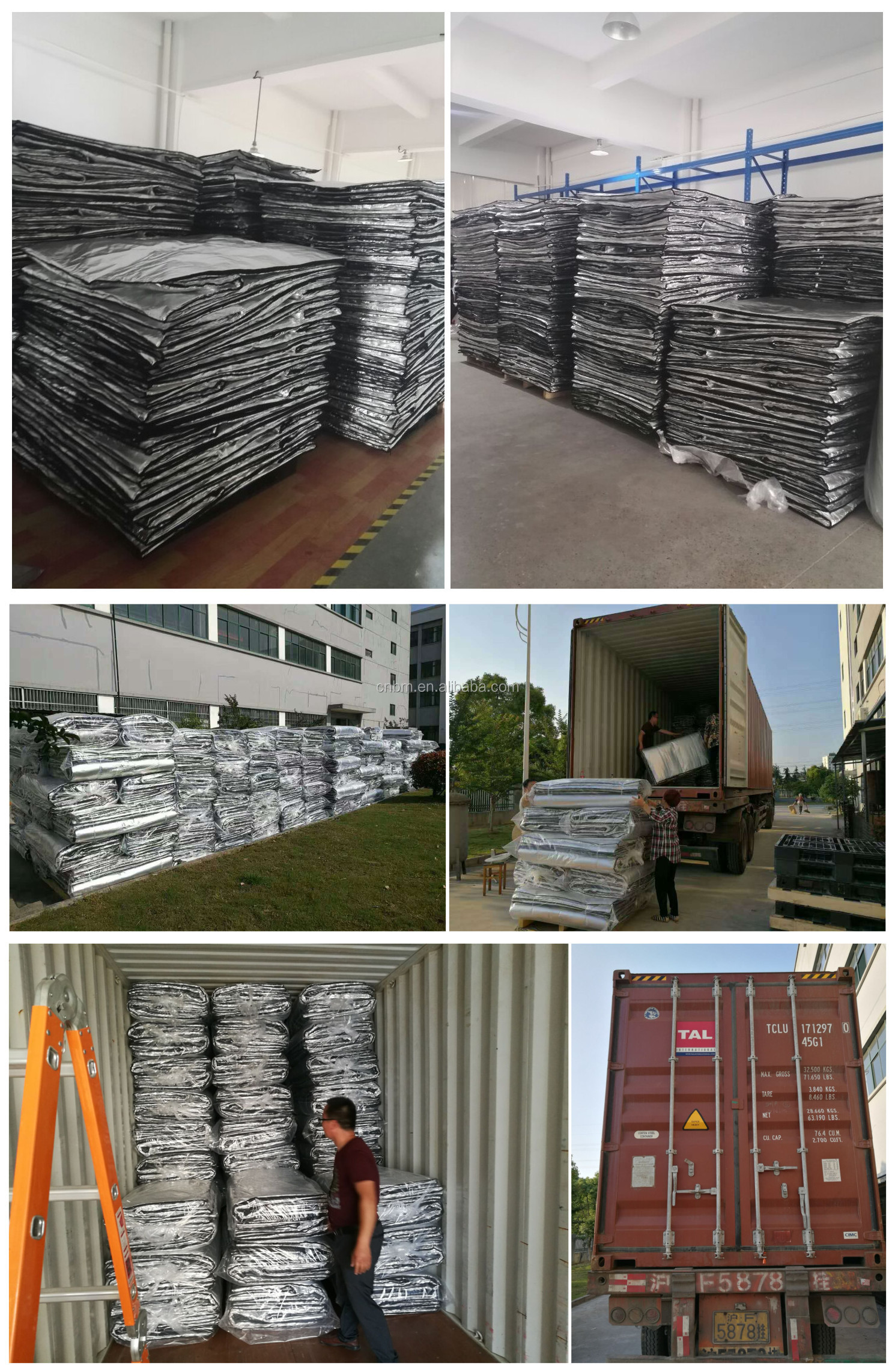 Fabriek Fabrikant Warmte-isolatie Aluminiumfolie Pallet Cover, Vers Voedsel Transport Cover, Roll Container Cover
