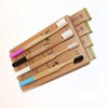 OEM brand colorful handle biodegradable round bamboo toothbrush