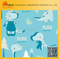 Cute children design soft home bed sheet dragon print fabric cotton