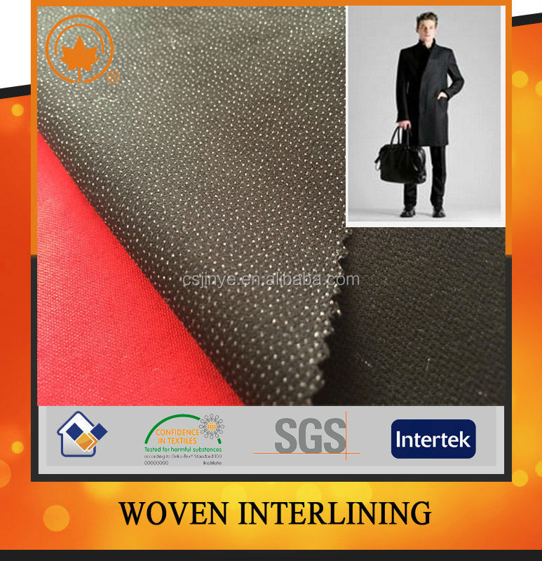 High quality garment fusing interlining fabric in china factory