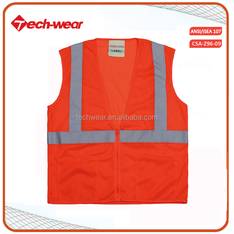 High Visibility Blue Reflective Construction Warning Safety Traffic Vest