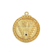 new design of custom badminton sports medal for marathon