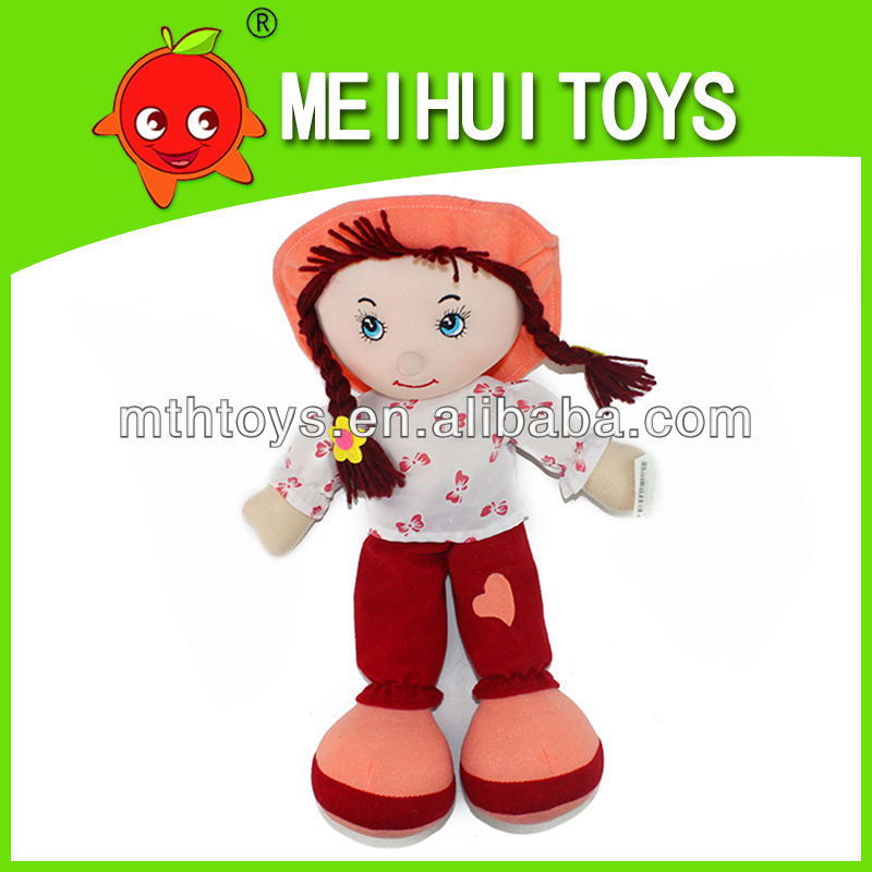 funny 14'' girl plush toy