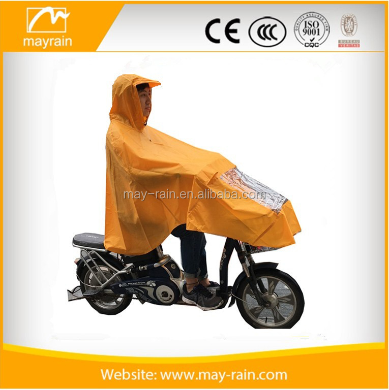 Polyester Motorcycles and electric cart dual-purpose rain poncho