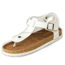 2017 shoes kids men new cork footbed toepost sandals with fashion design C1020