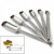 Narrow Stainless Steel Measuring Spoons 6 piece set Narrow Mouth Spice Jars (Set of 6)