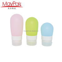 wholesale cosmetic containers silicone bottle for traveling use