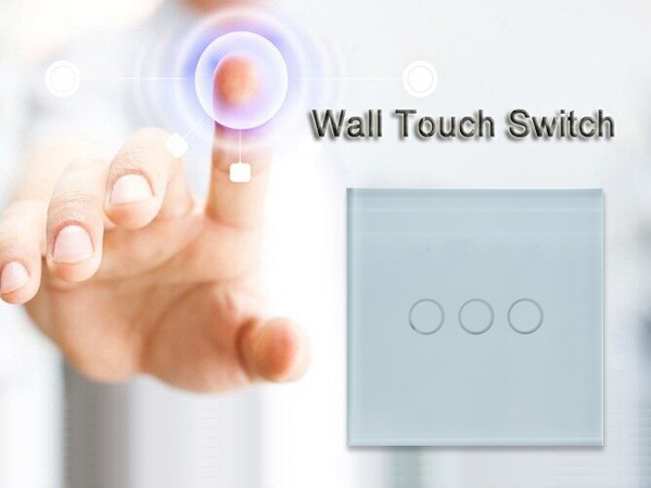 Light switch EU Touch Switch 1 gang, 2 gang, 3 gang JJ-TS-01,02,03