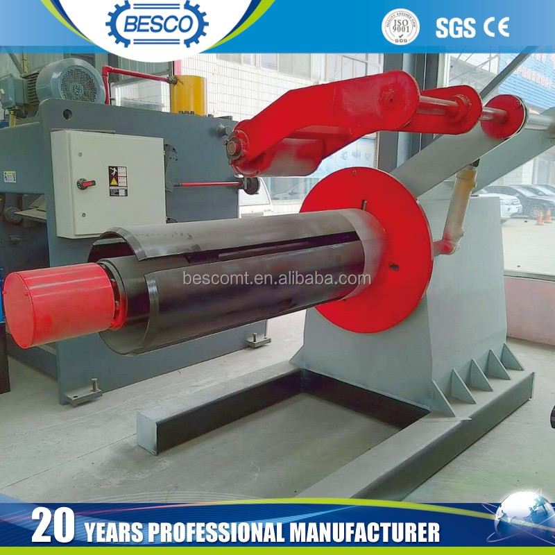 steel coil decoiling machine, decoiler machine, unwinder machine