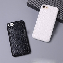 Wholesale Sublimation Leather Texture Silicone Rubber cell phone case for iphone 8 8plus 7 7plus 6 6plus