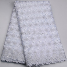 White Lace Nigeria African Lace Fabric African Bridal Embroidery Lace For Women Address XZ575B
