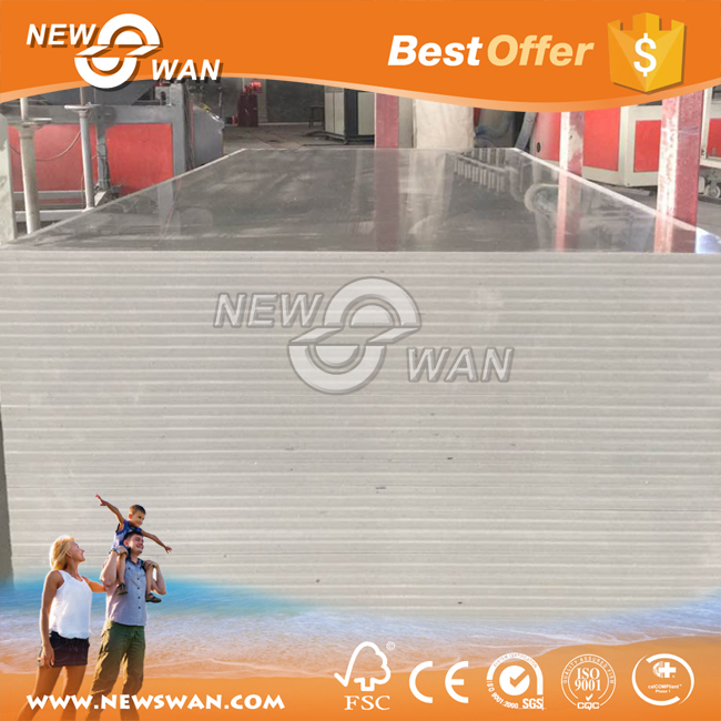Grey PVC Plastic Sheet Foam Filled PVC Board for Construction