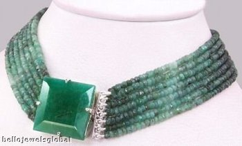 7 Strand Emerald Necklace-Wholsale Gemstone Jewelry Manufacturer