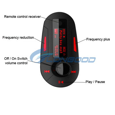 High quality car mp3 player fm transmitter , car usb mp3 music player , car fm transmitter mp3 driver