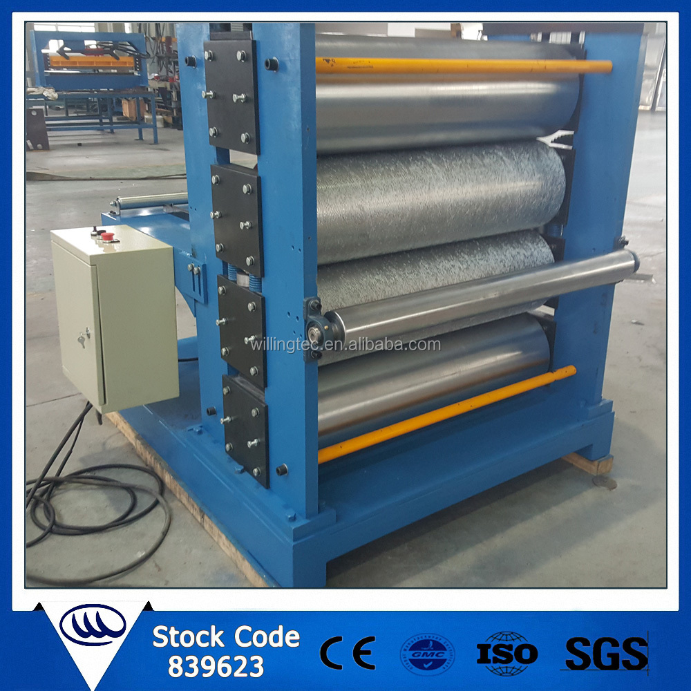 Wood grain steel metal sheet embossing machine