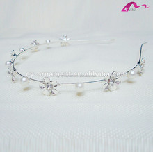 Fashion Wedding Hair Accessories,Women Flower Metal Pearls Headband For Wedding