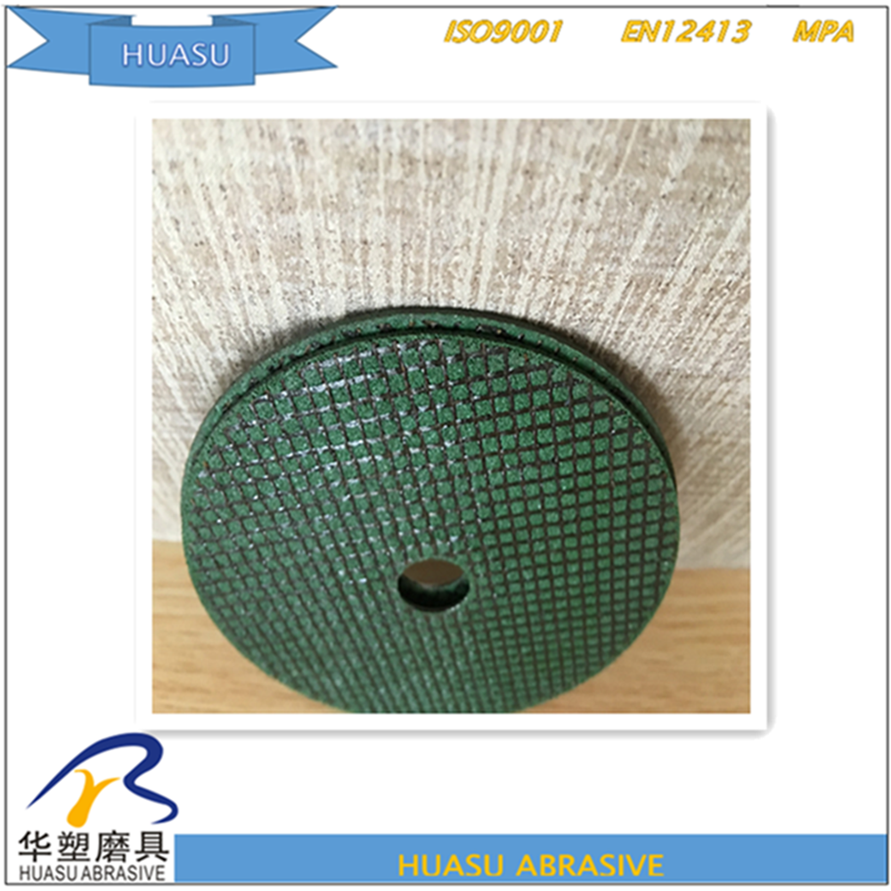 China supplier green abrasive cutting disc bullet wheel