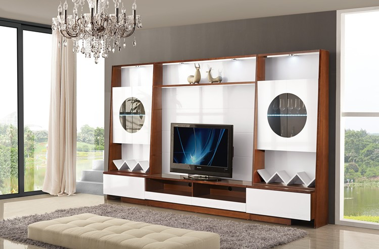 Pa102 china big cabinet latest design wall units for Lcd wall unit designs for hall