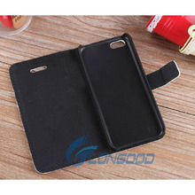 China Factory Flip Button Leather Cell Phone Case For iPhone 5