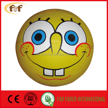 Size 5 full prined 8 panels rubber basketball with full design