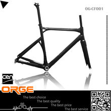 outdoor sports equipment toray T700 carbon frame road bicycle Any Color 3k weave road carbon frame complete bike size50/53/55cm