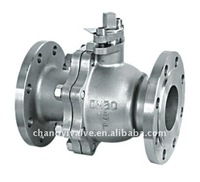 2PC GB standard stainless steel flange type ball valve