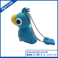 Hot Sales Promotional PVC Parrot shaped USB Flash Drive , USB DISK
