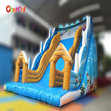 32ft large inflatable dry slide inflatable clown slide for chrismas