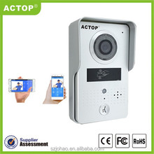 ACTOP factory outlets center Android WiFi intercom system,support wifi/3G/4G to answer door on smart phone
