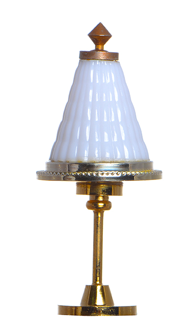 Antique Dollhouse Miniature Vintage Tiffany Shade Hanging Lamp Ceiling Light 12V/LED