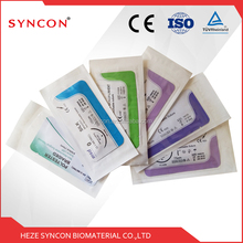 sterile suture needles with thread