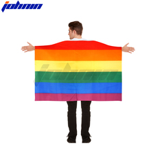 Rainbow Peace Flag 5 x 3 FT Polyester With Eyelets Banner Gay Pride cape