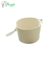 White Color with Special Carrying Handles Storage Basket