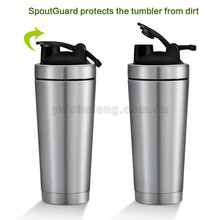 Gym Use Stainless Steel Insulated Water Bottle Protein Mixing Cup Shaker Bottle