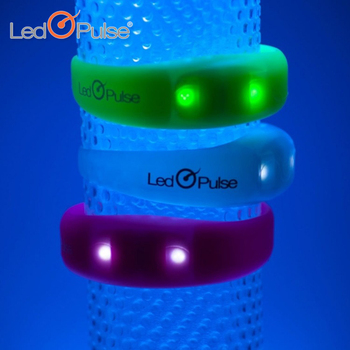 Christmas party supplies motion activated light up bracelet flashing led wristband sport led running bracelet