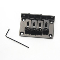 New 4-String Black Electric Guitar Ukulele Mandolin Bridge Tailpiece ...