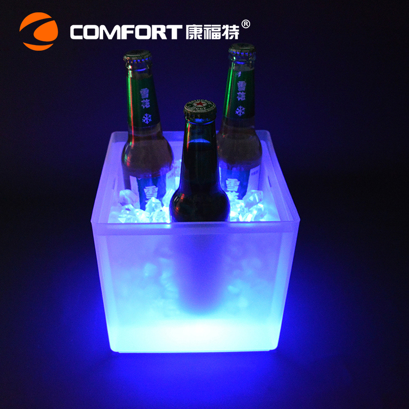 3.5 Liters semi transparent LED lighted ice bucket for bacardi rum