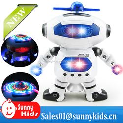 Hot battery operated toy robot with music and rotat Dancing robot toys