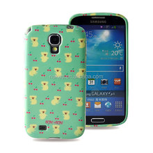 Bling Bling a flower back water proof case for Samsung galaxy s4 mini i9190