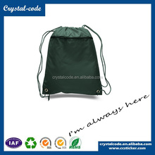 Newest Design Polyester Foldable Drawstring Shopping Bag