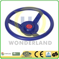 Playground wooden swing frame accessory of toy steering wheel