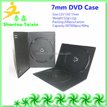7mm black single/double plastic cd cases wholesale blank cd dvd