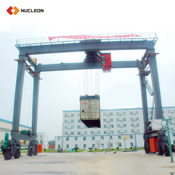 40 T 60 Ton Quayside Rubber Tyre Container Gantry Crane