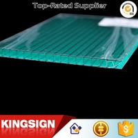 Most popular creative First Grade clear pc hollow plastic roofing sheet