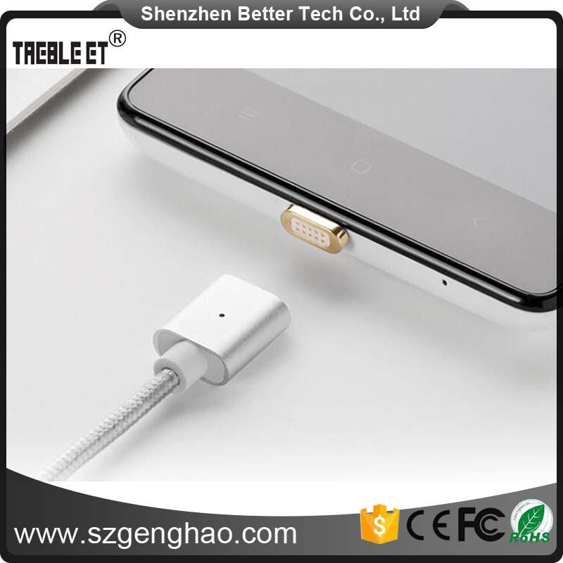 High quality 2.4A Magnetic Micro Usb Data <strong>Cable</strong> for Samsung Android